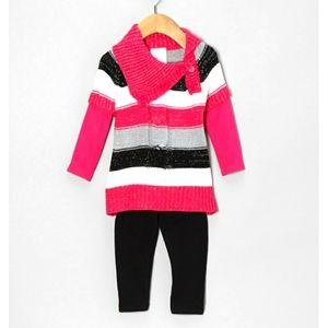 NWT Sweater Tunic & Leggings Set, Size 12 Months